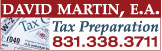 David Martin, E.A. Income Tax Preparation
